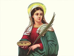 Paróquia São Francisco celebra Santa Luzia